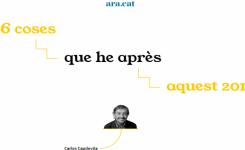 Deseamos los aprendizajes de Carles Capdevila en el año nuevo