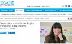 Esther Trujillo, ponente invitada en el coloquio de Alumni de ESADE en Galicia