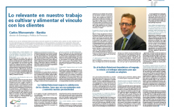 Entrevista a Carlos Monserrate (Bankia) sobre Banca Relacional
